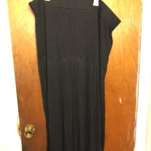 Plus Size Basic Black Maxi Skirt